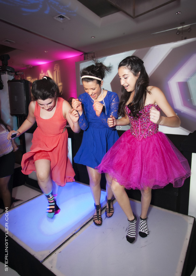 Amanda and Friends Rocking the Lighted Dance Platforms!