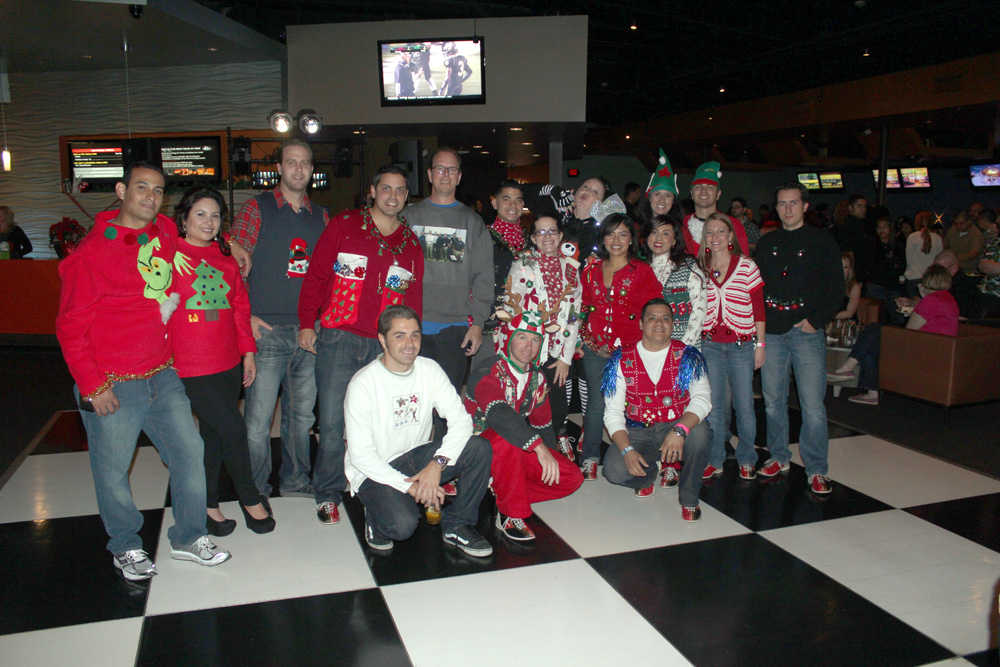 Some holiday team morale was made with an ugly sweater contest.