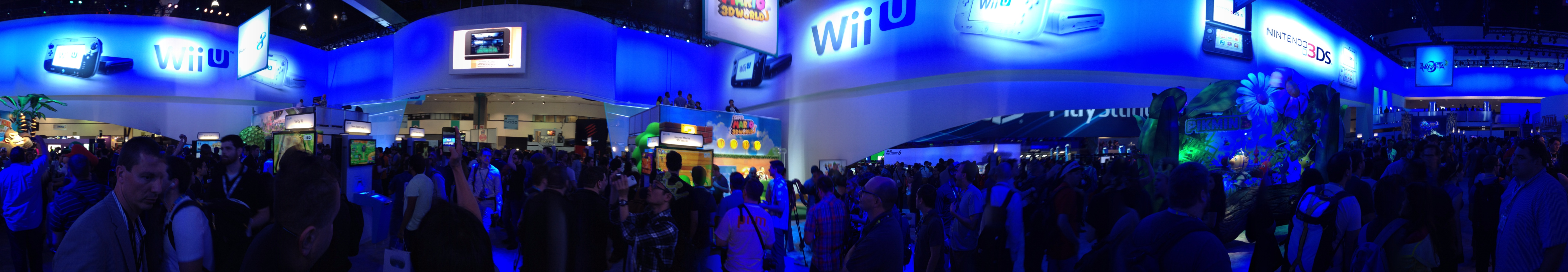 Panorama of the E3 Show floor